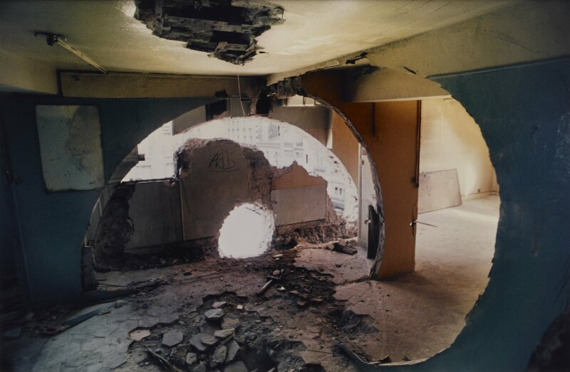Gordon Matta-Clark, Conical Intersect, 1975