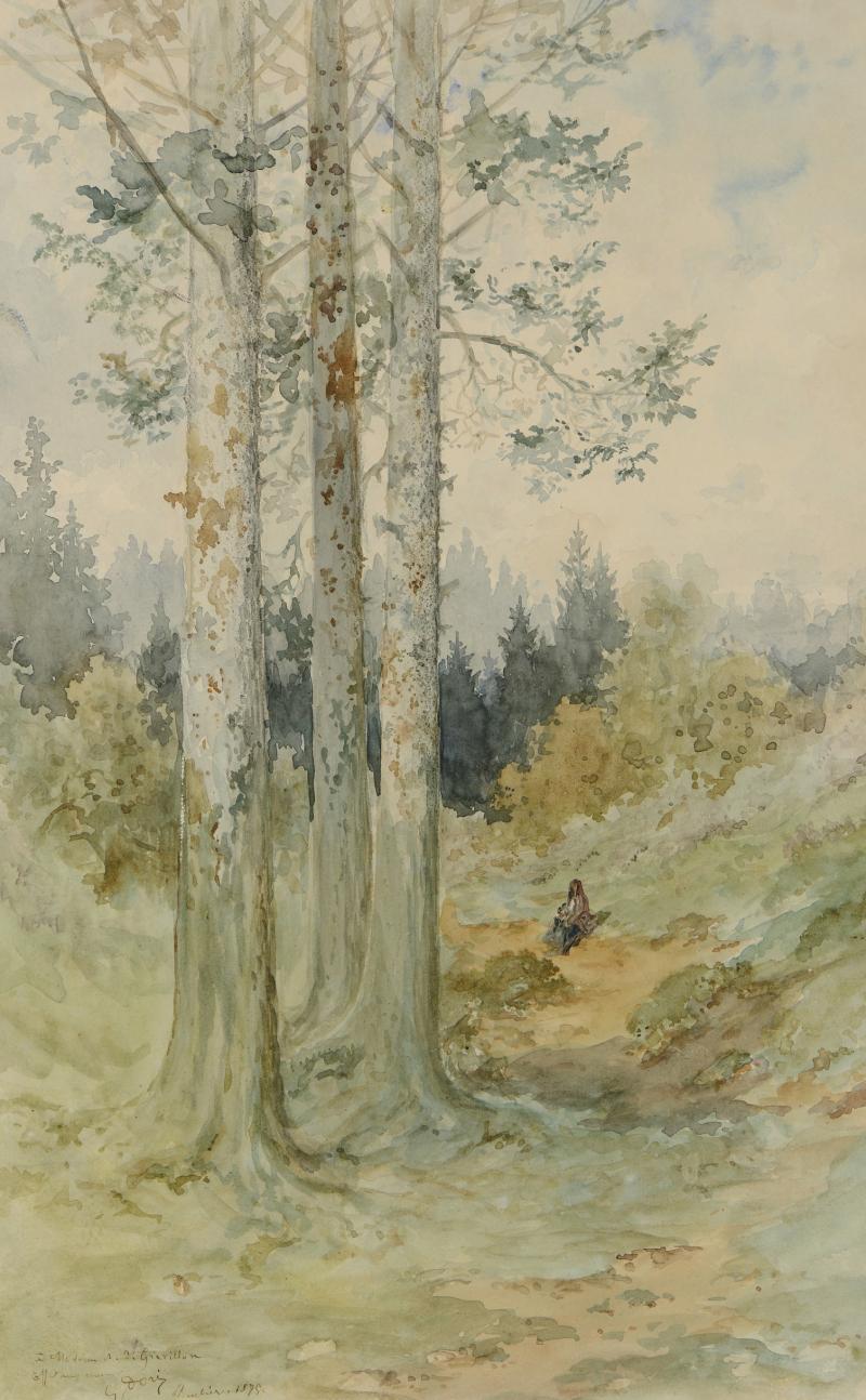 Gustave Doré (1832-1883), Clairière dans une forêt (Plombières), 1875