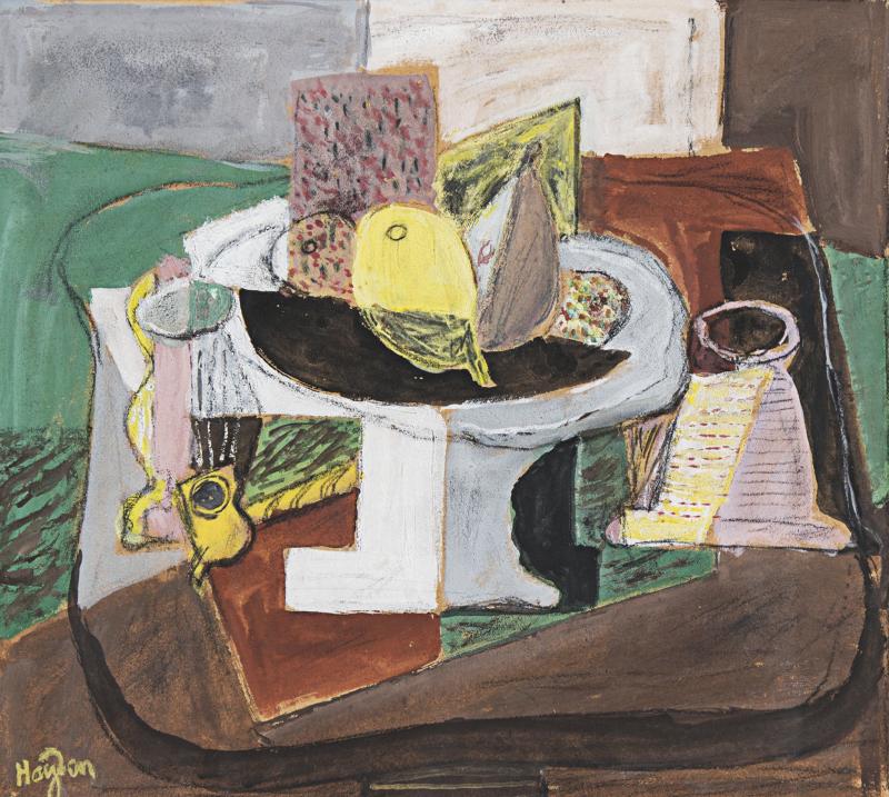 Hayden (1883-1970), Nature morte avec compote, 1920