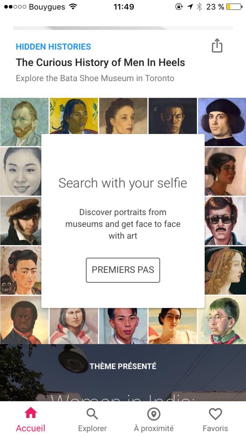 L'appli Find your portrait in a museum disponible en France !