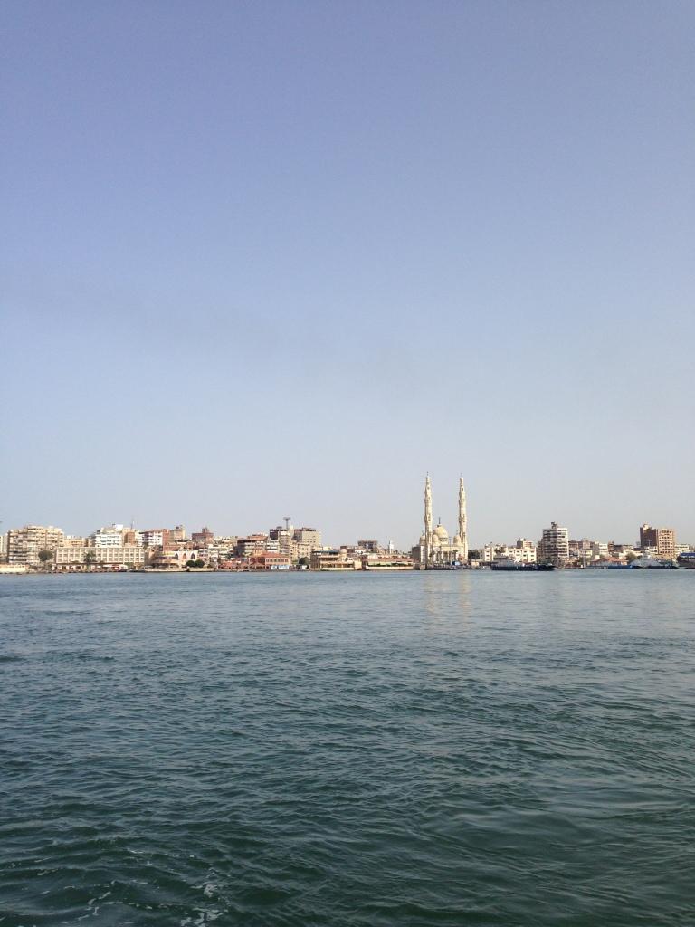 Vue de Port-Saïd depuis le canal de Suez, 2017