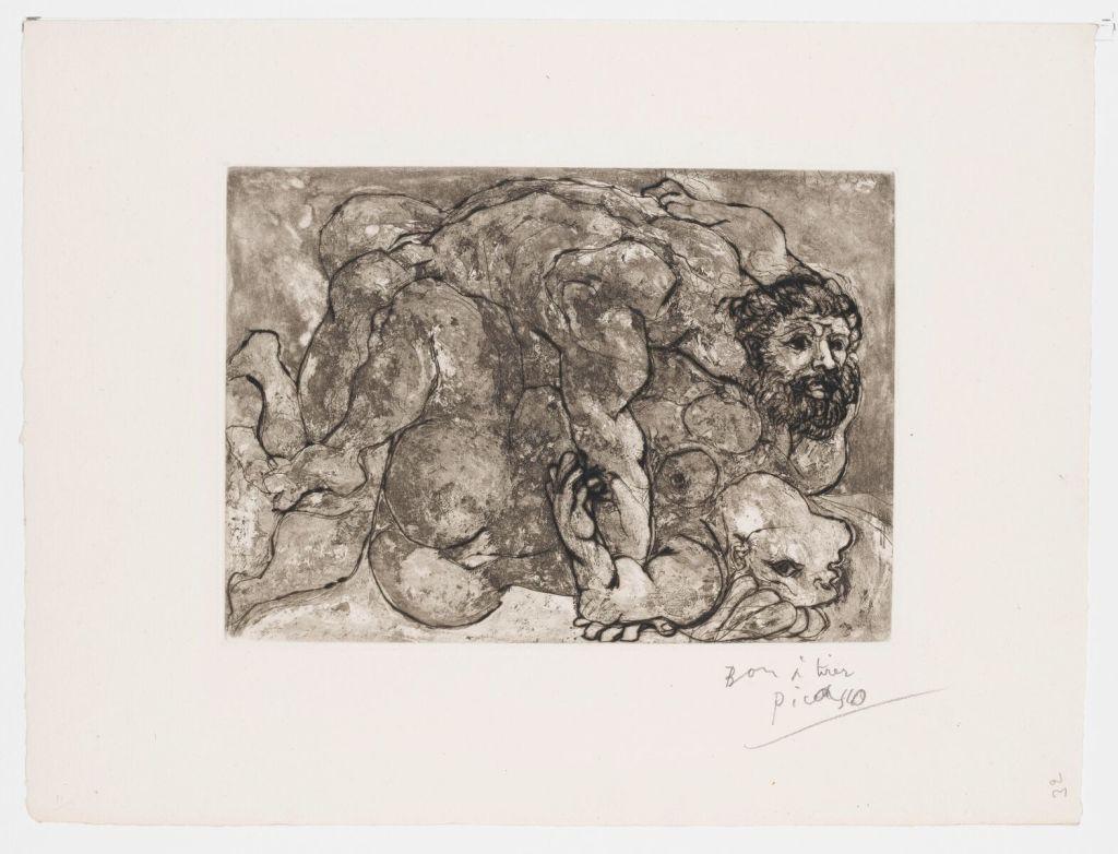 Pablo Picasso, la suite Vollard, gravure à l'eau forte