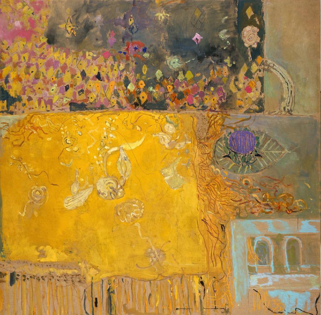 Pierre Lesieur, Table avec châle jaune, 2003