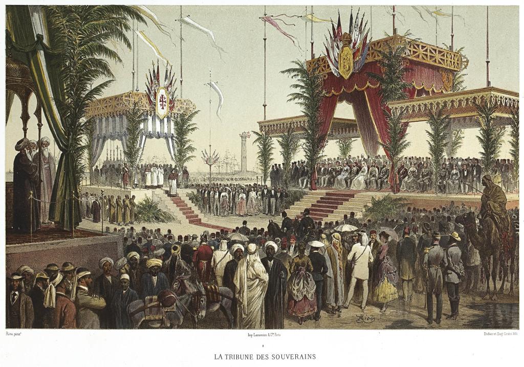 Edouard Riou, Eugène Cicéri, La Tribune des souverains, 1870