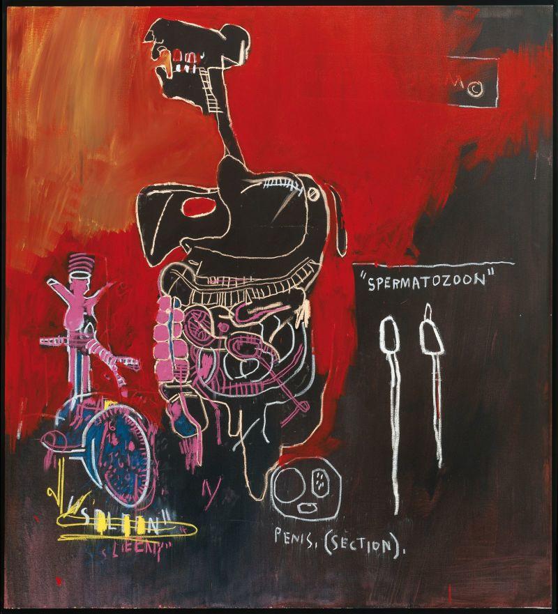 J.M. Basquiat, untitled spermatozoon,1983