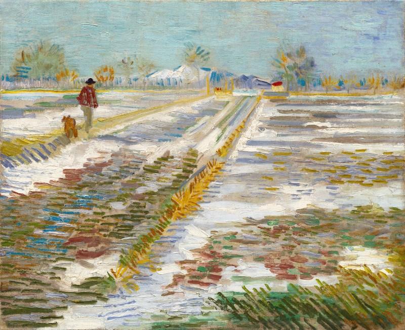 Vincent Van Gogh, Paysage enneigé, 1888
