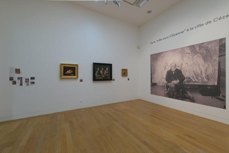 Vue de l'exposition Cézanne at home - Musée Granet