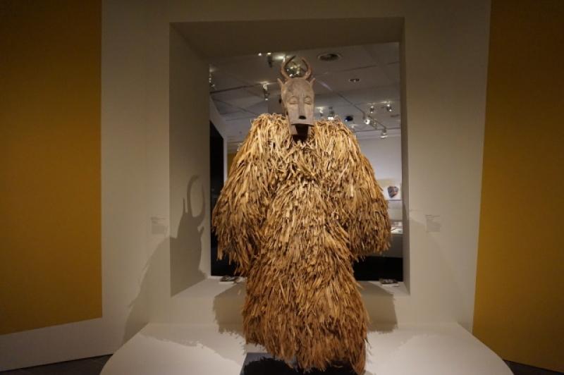 Vue de l'exposition Dada Africa au Musée de l'Orangerie