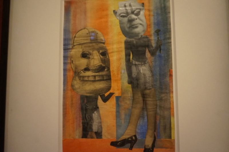 Vue de l'exposition Dada Africa au Musée de l'Orangerie (