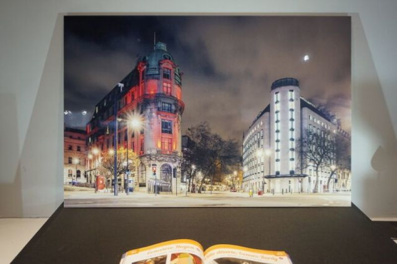 Vue de l'exposition Genaro Bardy à la Galerie Hegoa