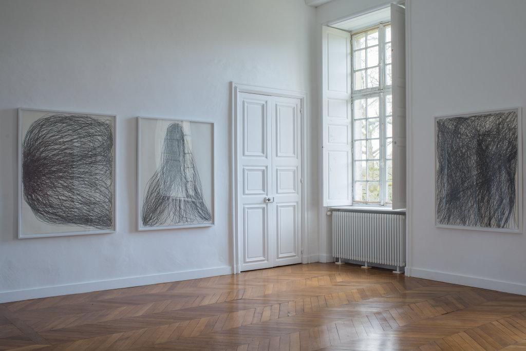 Vue de l'exposition Gilgian Gelzer - Domaine de Kerguéhennec