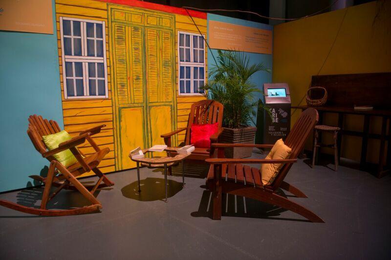 Vue de l'exposition La Caraïbe, Solitudes et relation