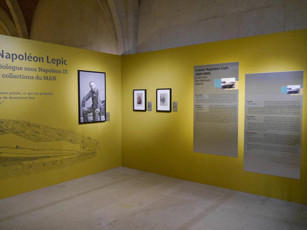 Vue de l'exposition Ludovic-Napoléon Lepic, peintre et archéologue sous Napoléon III - Musée d'Archéologie Nationale (2)