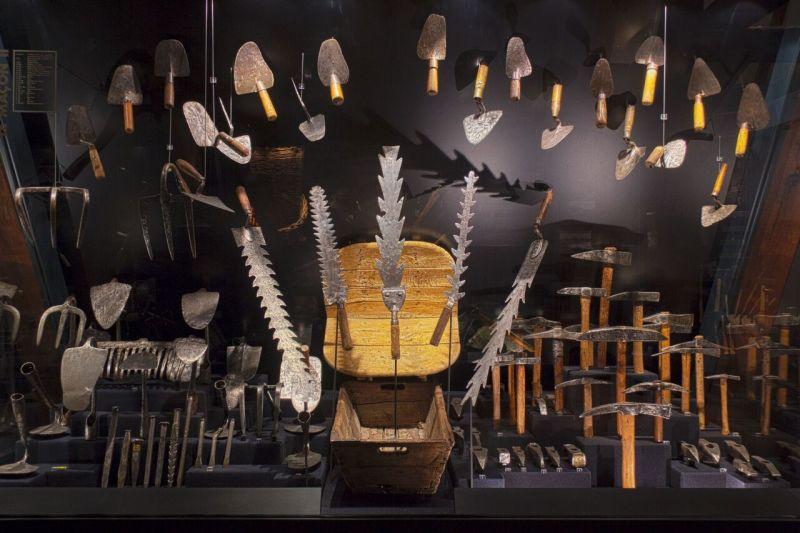 Vue de l'exposition permanente du Musée de l'Outil et de la Pensée Ouvrière de Troyes