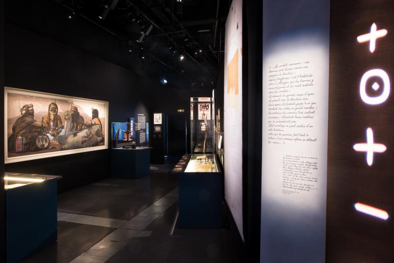 Vue de l'exposition Touaregs - Musée des Confluences