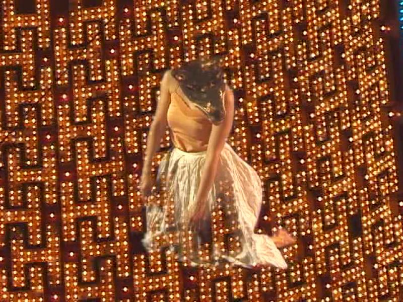 Joan Jonas, Wolf Lights, 2005, video still