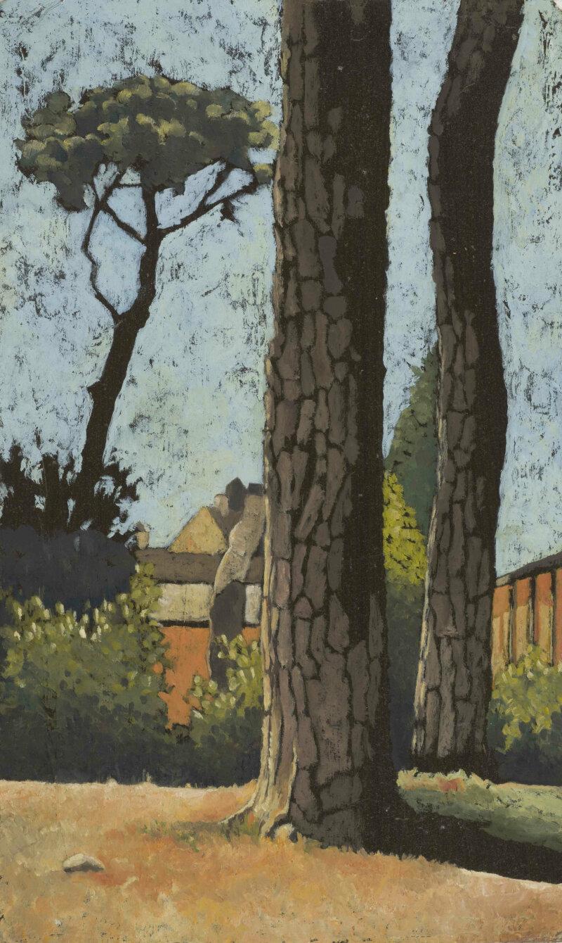 03- Chiara Gaggiotti, Roma 1, 2011, huile sur carton, 38 x 23 cm