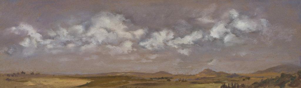 05- Virginie Isbell, Vue de mon atelier en Uruguay, 2017, huile sur carton, 20 x 68 cm