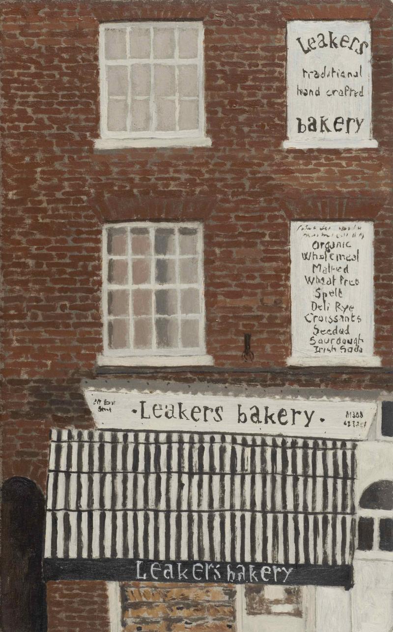 06- Delphine D. Garcia, Leakers bakery, 2015, huile sur carton, 25 x 15.5 cm