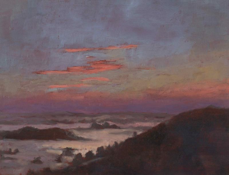 08- Virginie Isbell, Almanecer en Uruguay, 2013, huile sur carton, 19 x 24 cm
