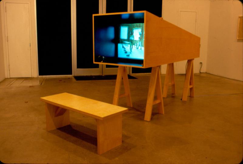 Joan Jonas, My New Theater III - In the Shadow a Shadow, 1999, installation at Pat Hearn Gallery, New York