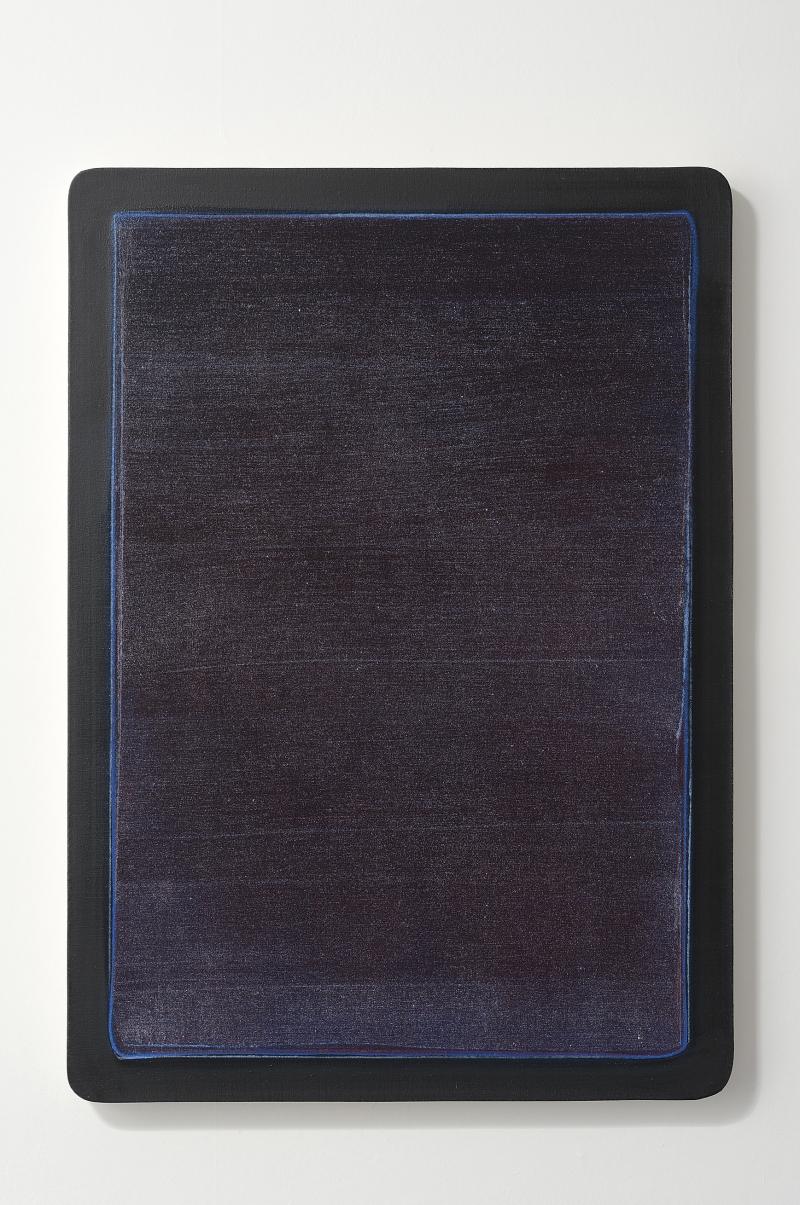 Hugo Schüwer Boss, Tablette, 2015, acrylique et vernis sur toile, 90 x 60 cm, collection privée