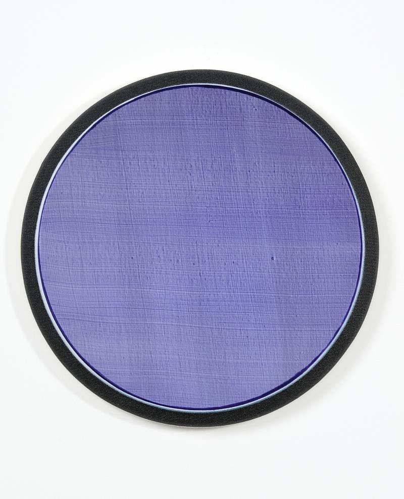 Hugo Schüwer Boss, Mélies, 2017, acrylique sur toile, diamètre 45cm, collection privée