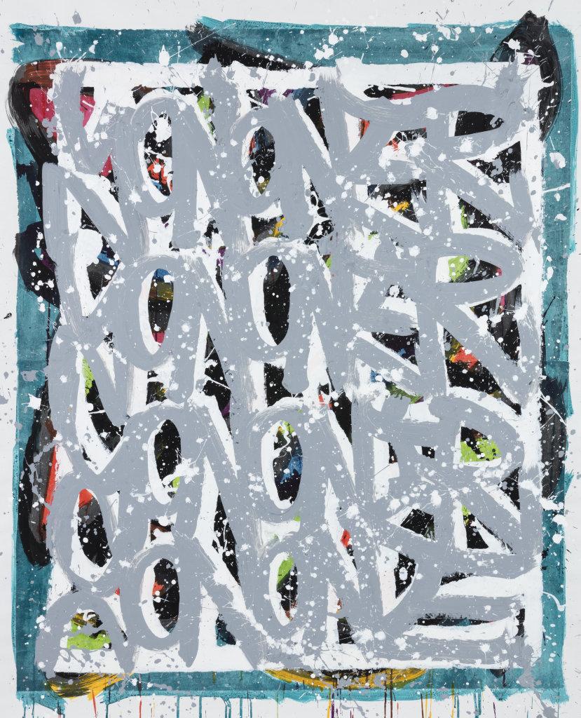 02. JonOne 2017-2018 - Technique mixte et collage de papier Hanji sur toile