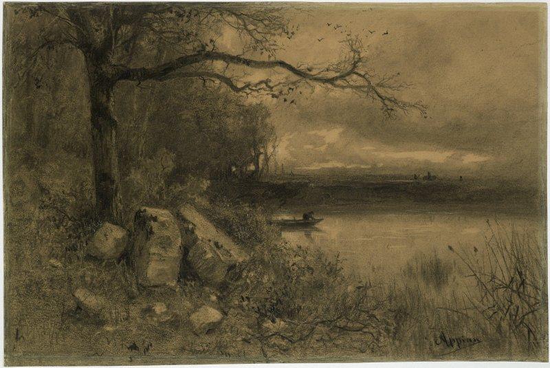 Jacques Barthélémy Appian dit Adolphe Appian, Étang au crépuscule, 1891