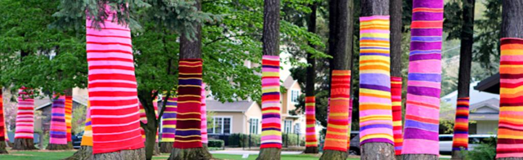 Arbres tricotés 10