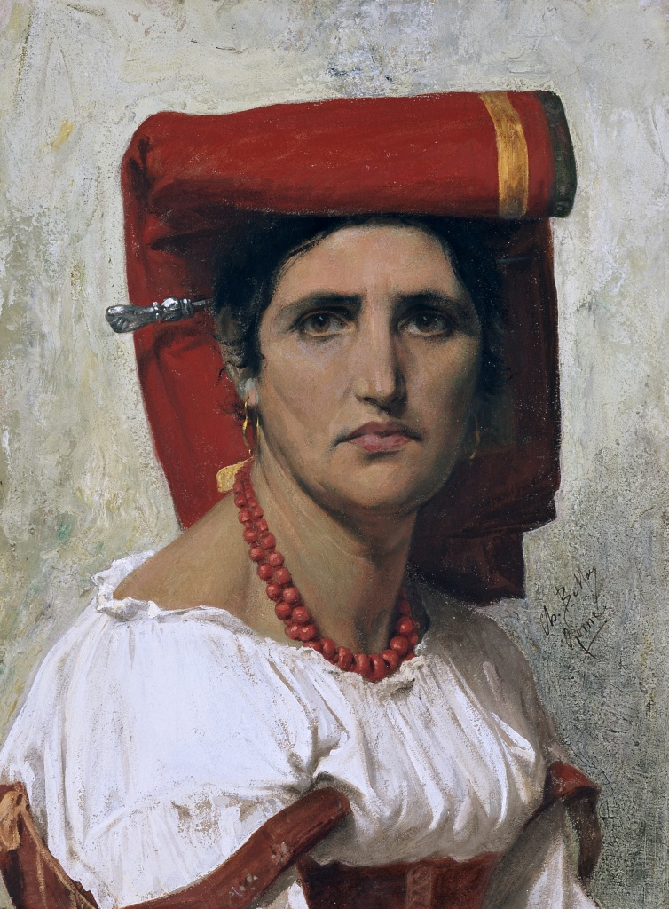 Charles Bellay, Tête d'Italienne, 1869