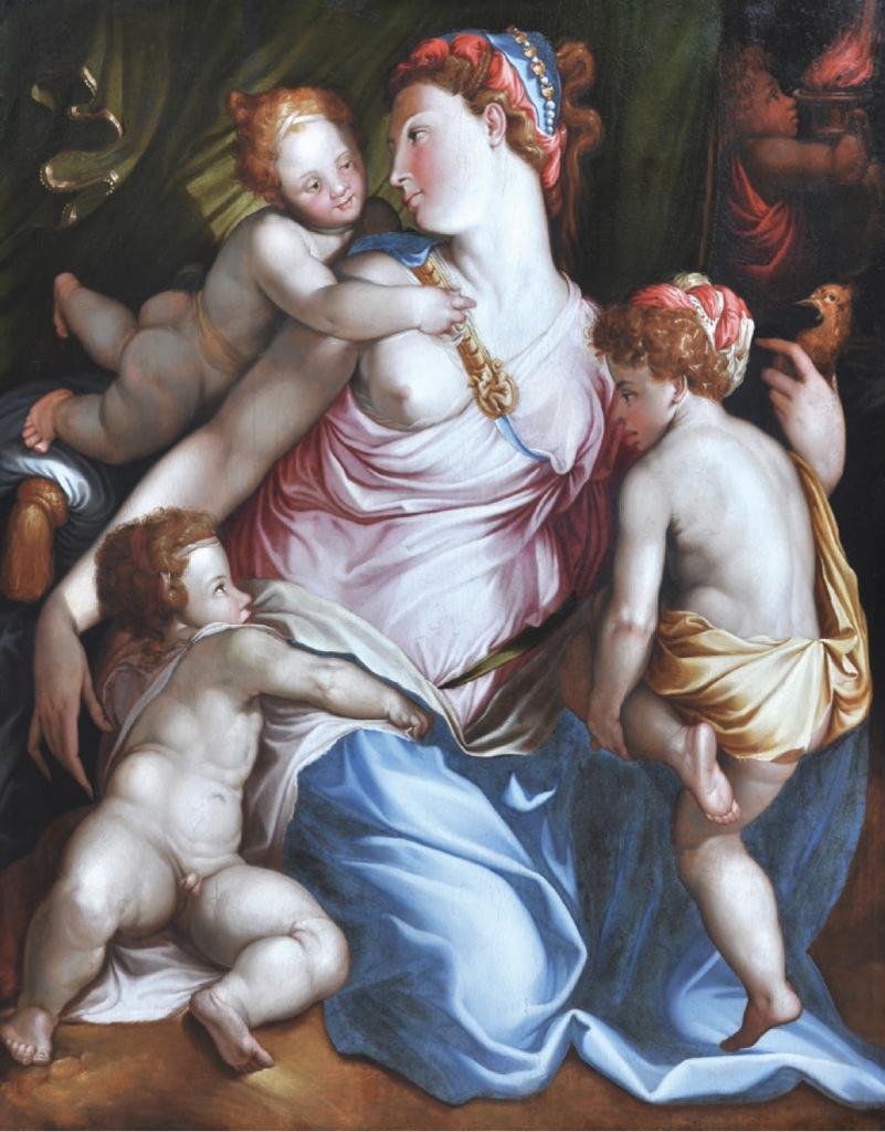 D'après Francesco Salviati, La Charité, vers 1550 - Heures Italiennes au Louvre-Lens, tous droits réservés.
