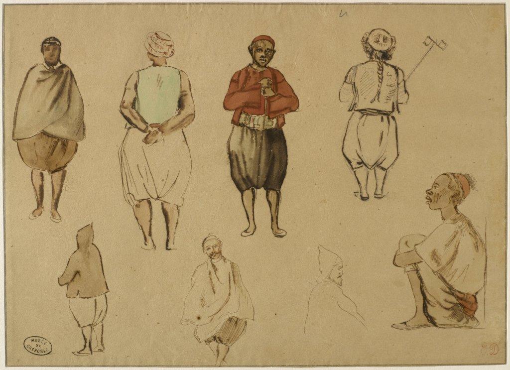 Eugène Delacroix, Études de costumes algériens, 1832