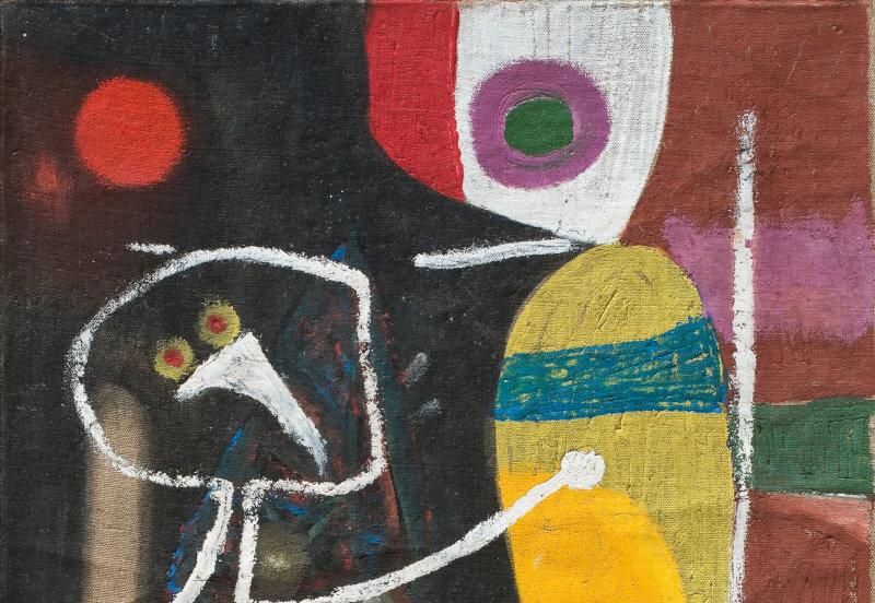 Jacques Doucet Sans titre, 1949 Huile sur toile 55 x 38 cm Collection privée © Photo Arteos Paris