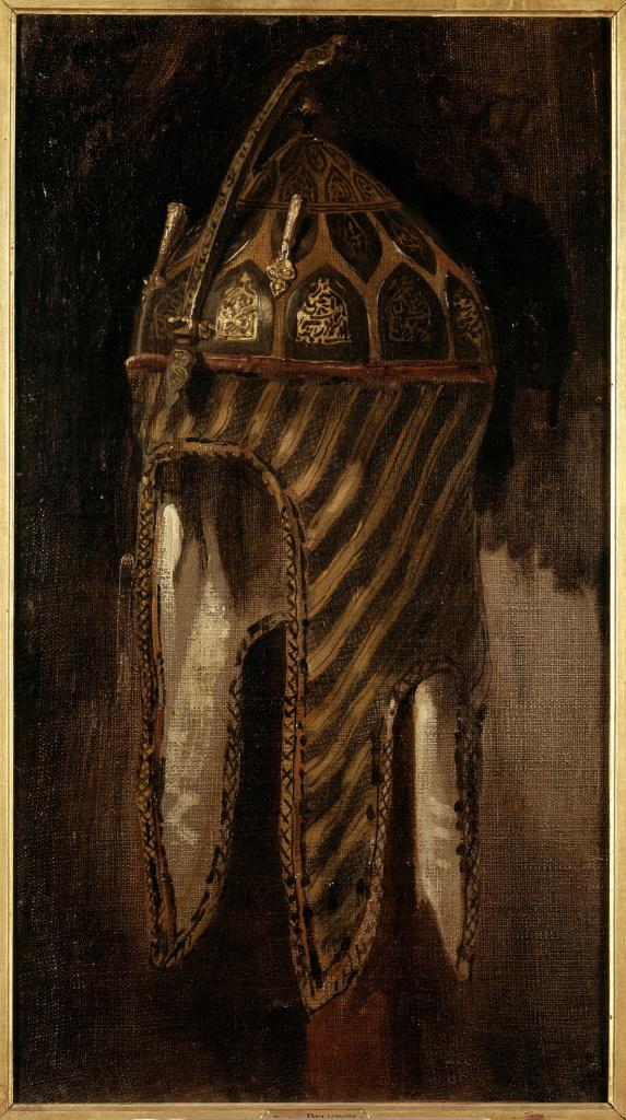 Étude de casque circassien, Eugène Delacroix © RMN-Grand Palais (musée du Louvre) Franck Raux René-Gabriel Ojéda