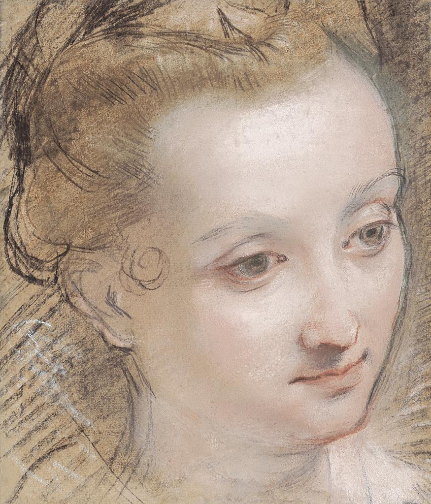 Federico Barocci, Tête de jeune femme