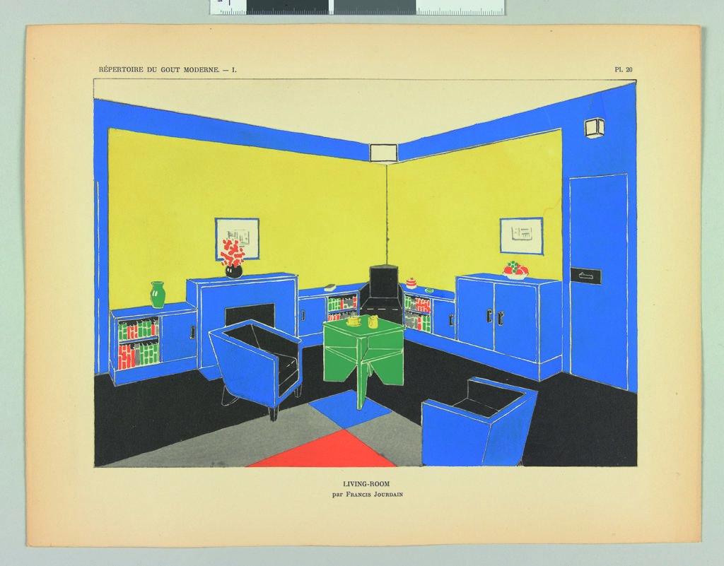 Francis Jourdain Living room publié dnas Répertoire du goût moderne, 1928