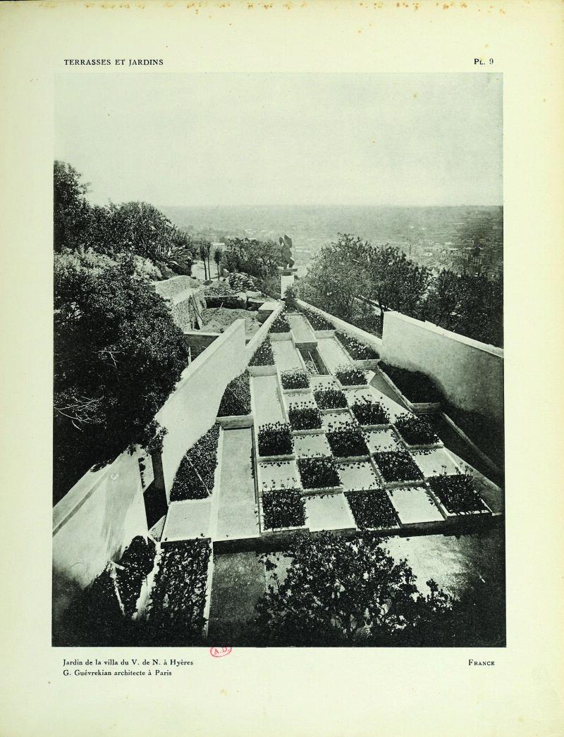 Gabriel Guévrékian Jardin de la villa Noailles, 1926-1928