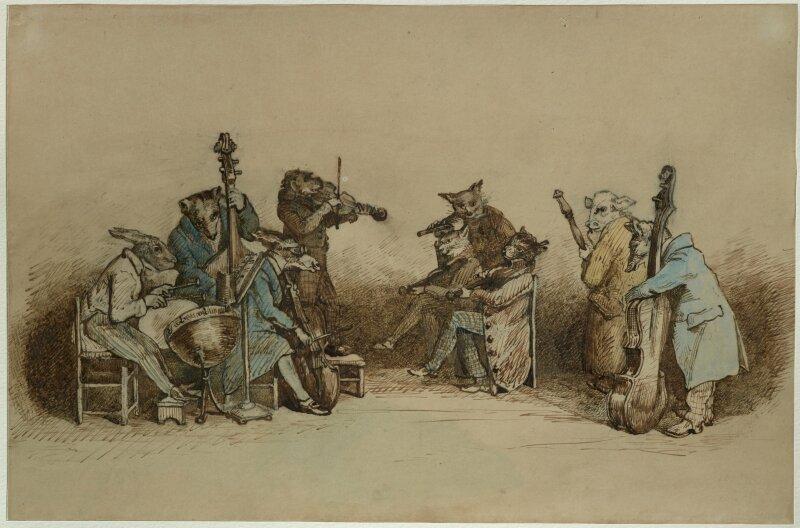 Jean Ignace Isidore Gérard dit J. J. Granville, Les Animaux musiciens, 1828