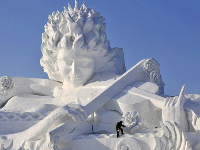 Sculpture de neige du Harbin festival