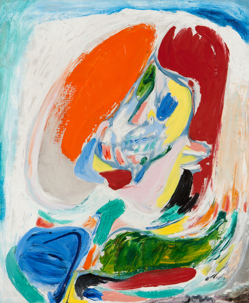 Asger Jorn Die verlorene Blume, 1970 Huile sur toile, 85 x 54 cm, Collection privée, tous droits réservés.