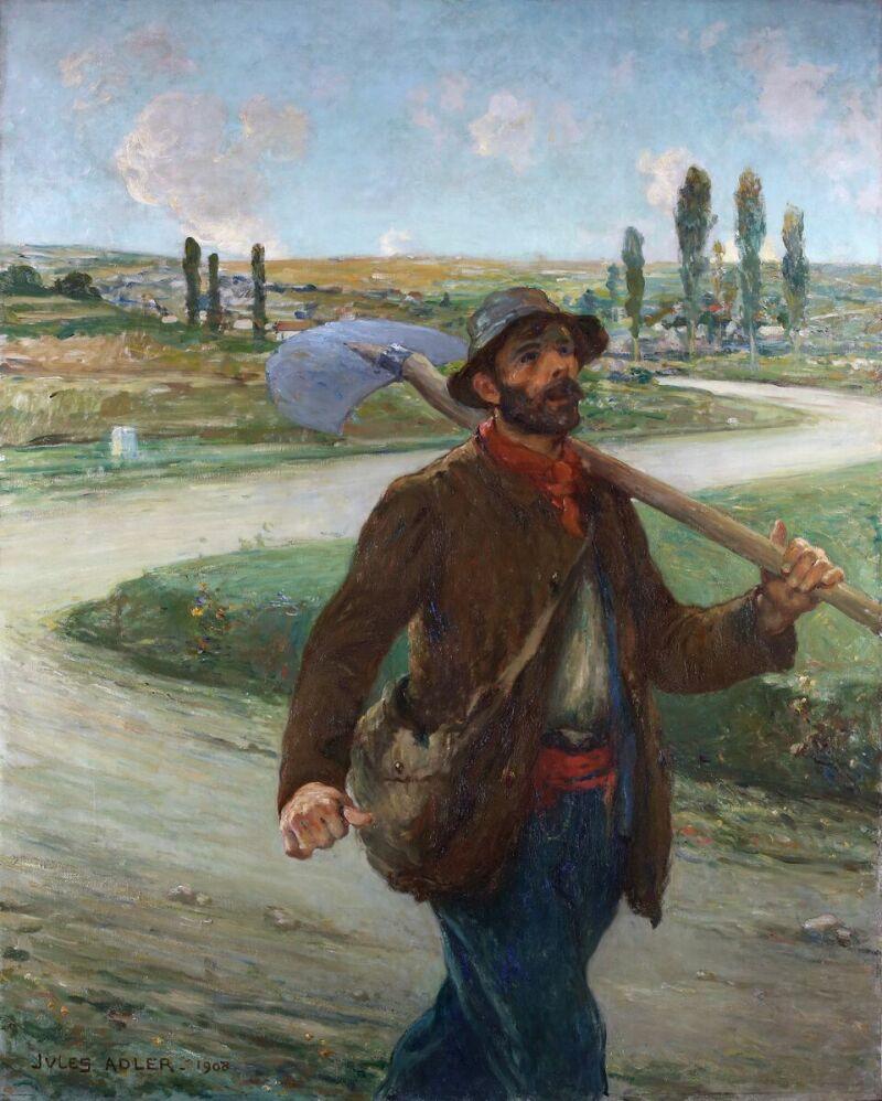 Jules Adler, Chemineau grand route