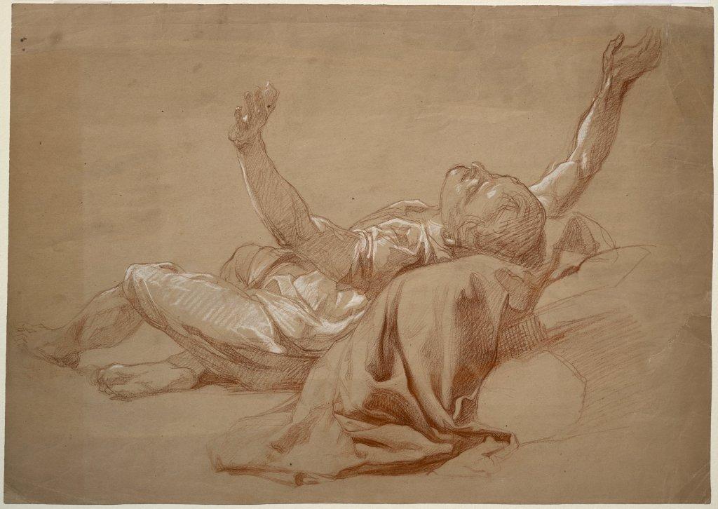 Alexandre Laemlein, Étude d'homme renversé, 1847