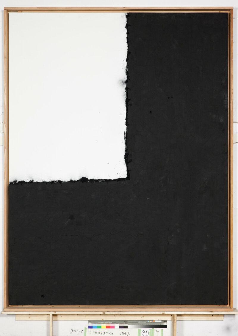 Lee Bae, Landscape, charbon de bois sur toile, 1997.