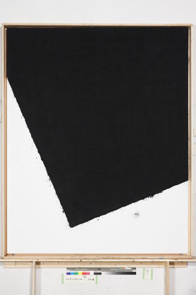 Lee Bae, Landscape, charbon de bois sur toile, 2002.