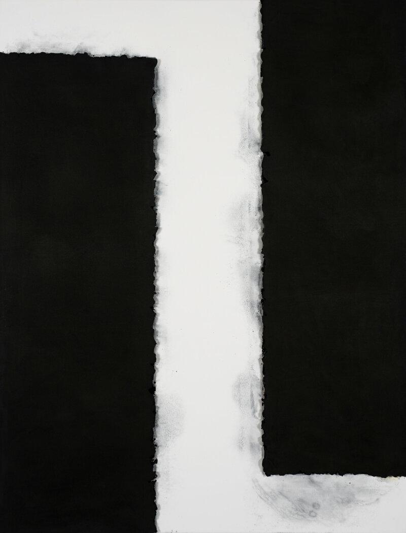 Lee Bae, Landscape, charbon de bois sur toile, 2001.