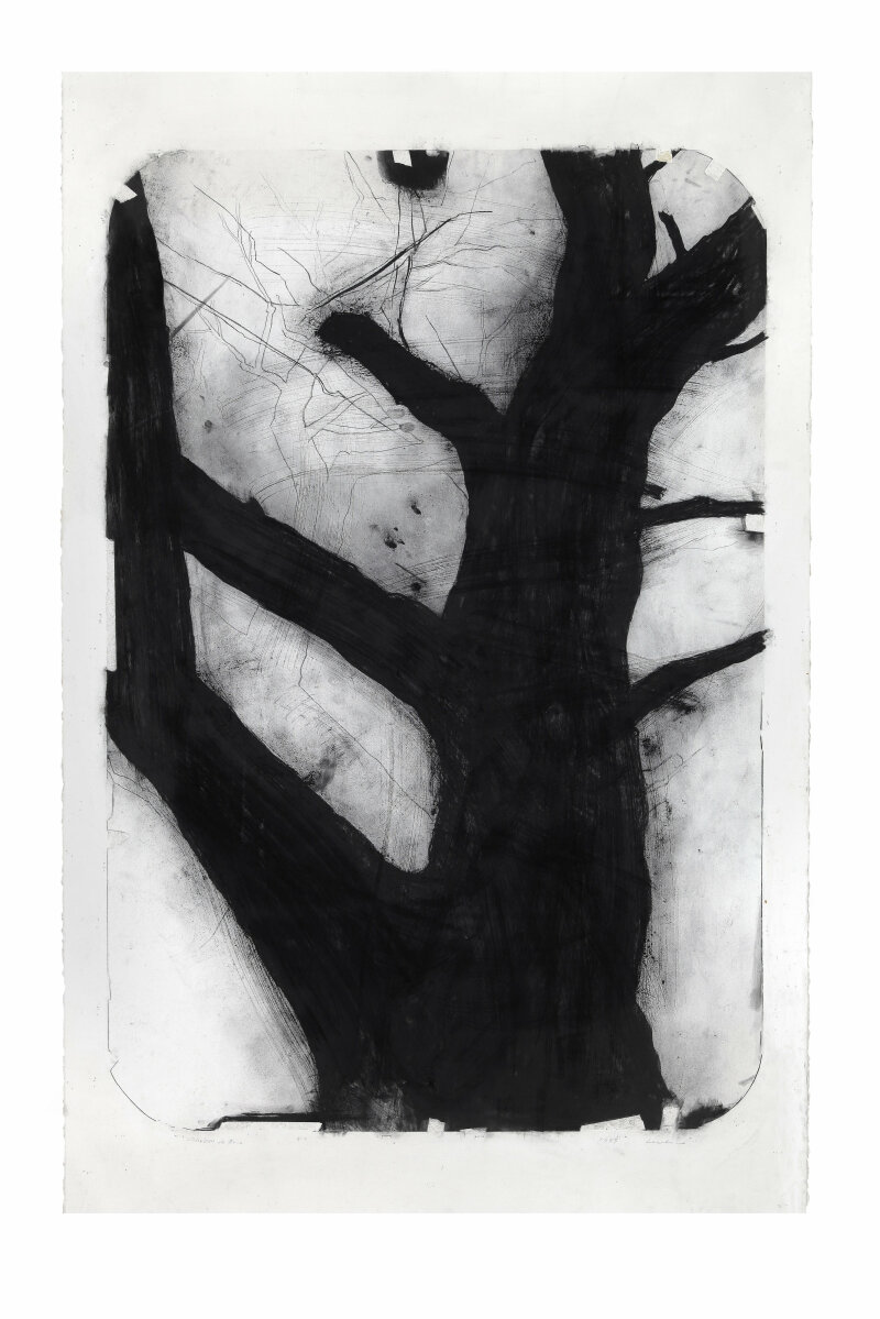 Lee Bae, Dessin, charcoal on paper, 145x114cm,1997