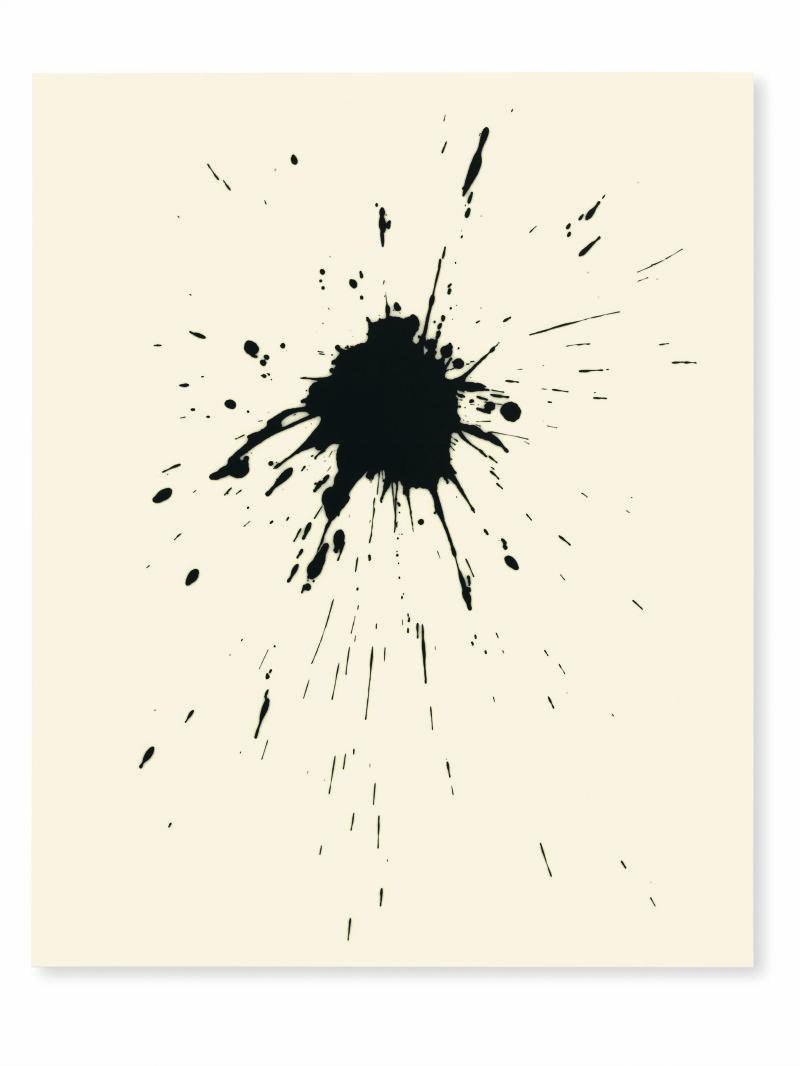 Lee Bae, Untitled, acrylic medium, charcoal black on canvas, 2017, 260 x 194cm