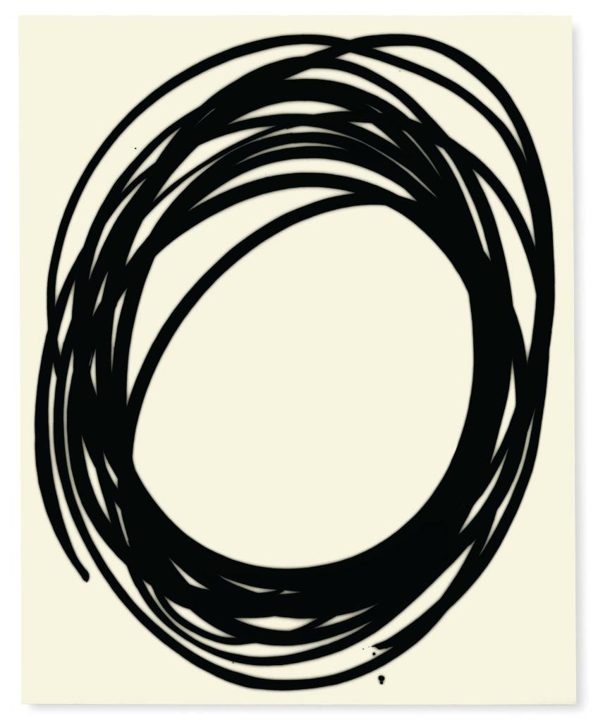 Lee Bae, Untitled, acrylic medium, charcoal black on canvas,2017, 163 x 130cm