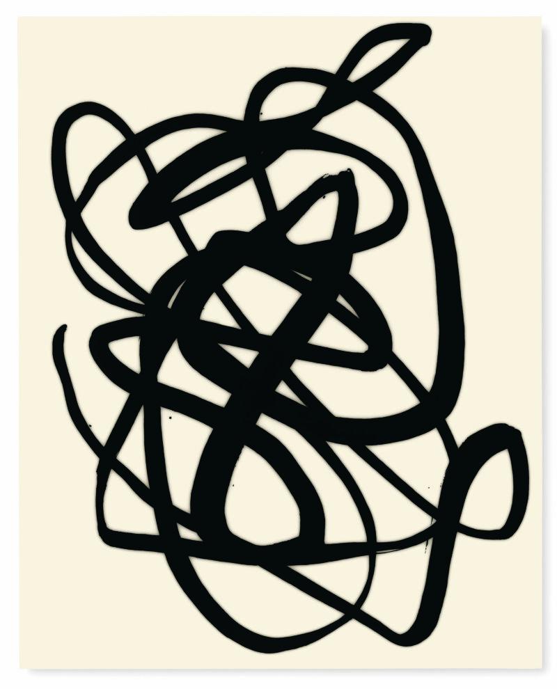 Lee Bae, Untitled, acrylic medium, charcoal black on canvas, 2017,163 x 130cm,